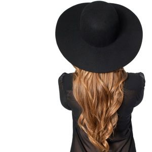 American Apparel Accessories - American Apparel Black Floppy Wool Hippy Chic Hat